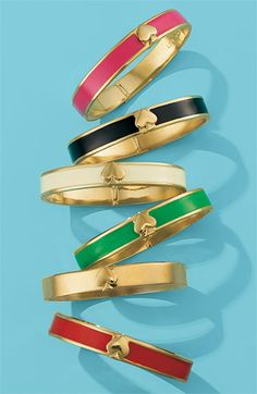 My excuse for buying too much Kate Spade? I'm just helping a sister out... kate spade new york 'spade' hinged bangle