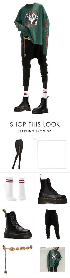 """""""-"""" by toppingu ❤ liked on Polyvore featuring Wolford, Menu, Charlotte Russe, Dr. Martens and Chanel"""