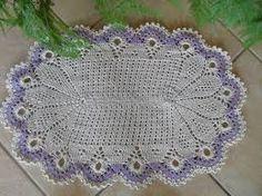 Resultado de imagem para tapete de croche com grafico