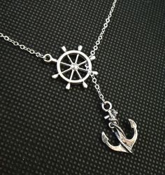 Anchor Necklace Nautical Necklace Beach Wedding Necklace Resort Jewelry, Sweet Anchor