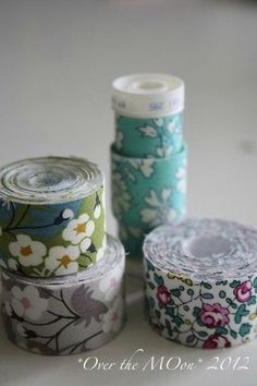 Fabriquer son masking tape Washi Tape Diy, Masking Tape, Mt Tape, Tapas, Liberty Fabric, Scotch, Diy Art, Patchwork, Textiles