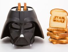 Each #StarWars #Toaster is molded in sturdy black plastic and meticulously detailed to look Darth Vader's helmet.