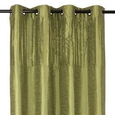 """Set of two silk-inspired curtain panels with grommet tops.   Product: Set of 2 curtain panels Construction Material: 100% PolyesterColor: Lime Features:  Pleating details on topHung with decorative 60 Library.grommetsGrommets have 1.5"""" diameter each Dimensions: 88"""" H x 54"""" W eachCleaning and Care: Machine wash in cold water.  Do not bleach.  Tumble dry on a delicate setting.  Iron on low heat if necessary."""