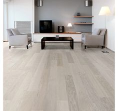 Wilson 145mm FSC Oak Plank G5 Click Prussian White Lacquered Engineered