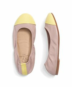 Leather Cap Toe Ballet Flats - Brooks Brothers