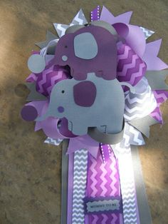 Purple Gray Elephant Theme Baby Shower 6 X 8x10 Party Signs   Http://www. Babyshower Decorations.com/purple Gray Elephant Theme Baby Shower 6 X 8x10u2026