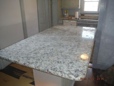 Ashen White Granite Kitchen Countertop Install For The Powell Family Knoxville 39 S Stone