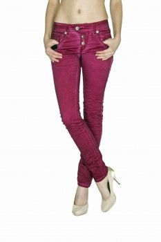 BLUE MONKEY Damen Skinny Jeans  Manie 3458 Blackberry