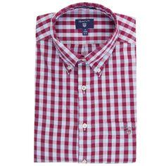 GANT Hemd im Regular-Fit 'Oxford Gingham' ► Das Hemd HEATHER OXFORD ist im Regular-Fit geschnitten, wodurch sich eine komfortable Passform ergibt. Ein sportlicher Button-Down Kragen, sowie eine aufgesetzte Brusttasche mit aufgesticktem Label runden seinen Look stilvoll ab.