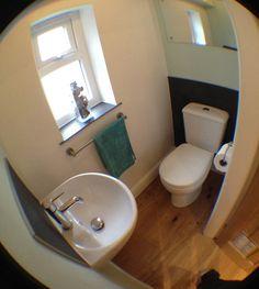 downstairs toilet utility room under stairs ile ilgili görsel sonucu Small Downstairs Toilet, Downstairs Cloakroom, Small Toilet, New Toilet, Small Bathroom, Basement Toilet, Compact Bathroom, Modern Bathroom, Porch With Toilet