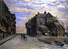 The Lieutenancy at Honfleur Claude Monet Fecha: 1864 Estilo: Impresionismo Género: paisaje urbano Monet Paintings, Impressionist Paintings, Landscape Paintings, Claude Monet, Pierre Auguste Renoir, Artist Monet, Art Brut, Post Impressionism, Oil Painting Reproductions