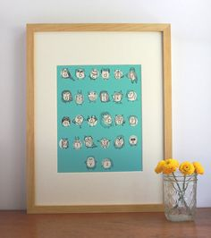 Owlphabet Print