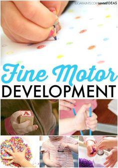 Fine motor development in kids activities