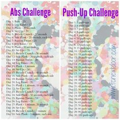 Fit Chick's 30 Day Ab + Push-Up Challenge