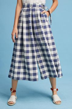 Slide View: 2: Gingham Culottes