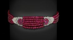 """Maker: Cartier (French, founded Paris, 1847). The Patiala Ruby Choker, 1931; restored and restrung to the original design by Cartier Tradition, Geneva, 2012. The Al-Thani Collection 