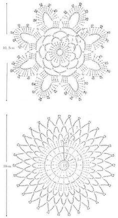 Untersetzer Deckchen häkeln - crochet doily coaster 2