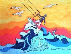 Miss KaraBeth - back to the drawing blog...: KiteSurfing