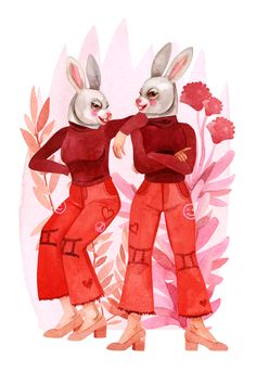 What do the stars hold in store for your V-Day plans? The Astrotwins reveal all. Zodiac Art, Zodiac Signs, All About Gemini, Gemini Art, Artsy Fartsy, Tigger, Horoscope, Illustration Art, Illustrations