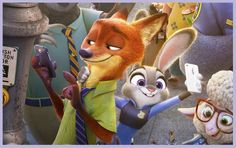 #Zootopia street-selfie (close-up from poster)