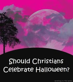 Should Christians celebrate Halloween?  Do we celebrate Halloween?  It's debated every year.  Bring your bible and study His Word for us as we settle the debate. Part 3 of the Halloween series every Thursday in October on Growing In His Grace.