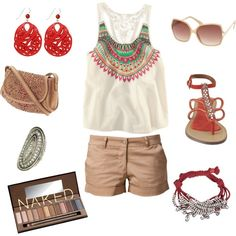 More of a tribal look, created by c8linharder on Polyvore