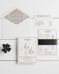 Black and White Details for a Minimalist Wedding via Brit + Co