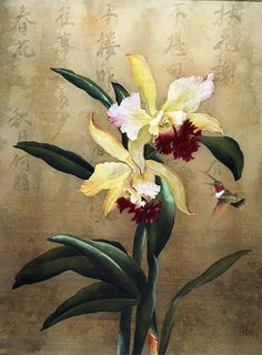 oriental orchid painting