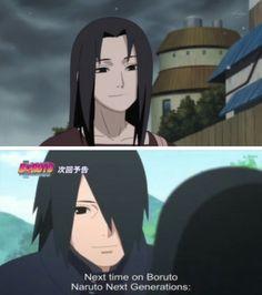 Mikoto and Sasuke ♡ like mother like son Sasuke Uchiha, Shikamaru, Naruto Shippuden, Sasunaru, Naruto Family, Boruto Naruto Next Generations, Naruto Art, Anime Naruto, Dc Anime