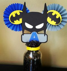 Cumpleaños de Batman de centro de mesa roseta de Batman