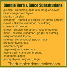 herb and spice substation (: