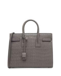 0e58c31e313fe Saint Laurent Sac de Jour Croc-Print Carryall Bag