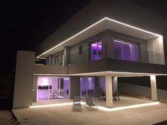 An evening photograph of one of my designs recently completed by @CosanSpain on a site in #Moraira #Spain #realestate #Architecture #Arquitectura 