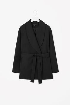 COS | Belted shawl collar coat