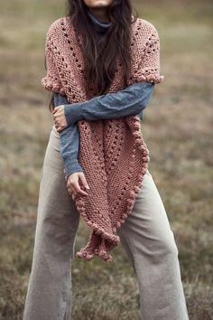 Romance Wrap FREE Knitting Pattern — Two of Wands Knit Cowl, Knitted Shawls, Knit Crochet, Sweater Knitting Patterns, Free Knitting, Simple Knitting Patterns, Purl Stitch, Wrap Pattern, Lion Brand Yarn