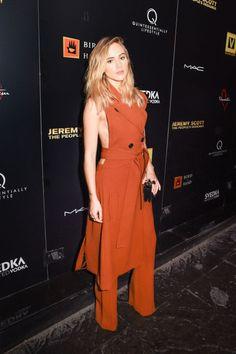 Fashion week's best dressed: Suki Waterhouse at the Jeremy Scott: The Peoples' Designer New York premiere.