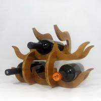 Wave Wine Rest by GioGio Design. American Made. See the designer's work at the 2016 American Made Show, Washington DC. January 15-17, 2016. americanmadeshow.com #americanmade, #americanmadeshow, #bamboo, #winerack