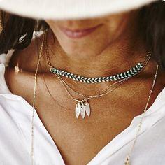 """Empezamos la semana con """"#joyería francesa para todas las ocasiones con una elegancia bohemia-chic"""". #Collares simplemente perfectos de la firma By164paris, joyas hechas a mano, finas, ligeras y fáciles de llevar pero a la vez elegantes y femeninas. Descubre sus collares, #pulseras y #pendientes en nuestra sección #NEWCOLLECTIONS a precios que no podrás resistirte. http://www.baulchic.com/460-by-164-paris #joyas #joyashechasconamor #nuevascolecciones #tendencias """