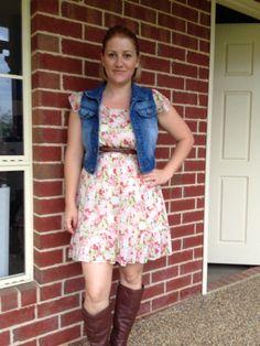 My op shop score. Dress $4.00 vest $2.00 :) bargain!!!!!