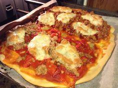 Pizza 2 sabores.