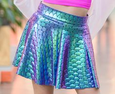 Mermaid+Skater+Skirt
