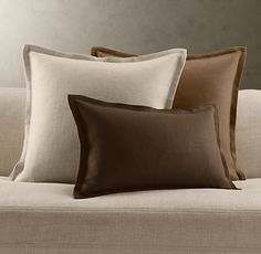 Belgian Linen Pillow Covers. Restoration Hardware pillows for couch.