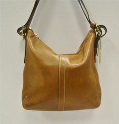 Coach 9328 Brown Tan Leather Convertible Slim Duffle Handbag Bag Purse Hangtag $137.00   eBay DorothyGail101