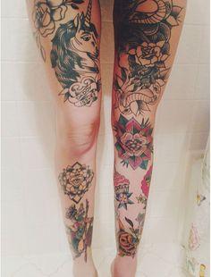 i-always-bet-on-inked-girls: I Always Bet On Inked Girls Tattoo Girls, Girl Leg Tattoos, Leg Tattoos Women, All Tattoos, Body Art Tattoos, Tatoos, Piercing Tattoo, Pretty Tattoos, Beautiful Tattoos