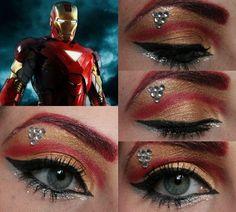 Today I created an Iron Man eye makeup look :)                                                                                                                                                                                 More