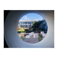 A simple installation of our decorative cubes provides a bold contrast between our white blocks and the circular patterned walling. These form part of the recreation courtyard of the university's Centenary Building, housing the Faculty of Engineering.
