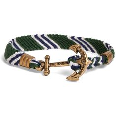 Brooks Brothers Kiel James Patrick Green Hitch Knot Braided Bracelet ($48) ❤ liked on Polyvore featuring men's fashion, men's jewelry, men's bracelets, bracelets, brooks brothers, jewelry and green
