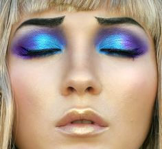 These are some of the worst eyebrows that I have ever seen, but I love the blue and purple!