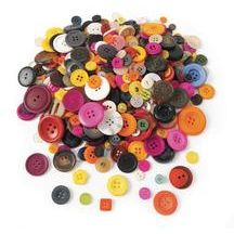 Assorted Grandma's Buttons: This 3lb bag of aprox. 3000 buttons is wonderful for sensory tables, color/size/number sorting, and craft project.