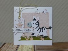 @ Welkom kleintje, dochter, meisje, baby, gefeliciteerd, Zebra (COL1447 - Marianne Design Collectables)